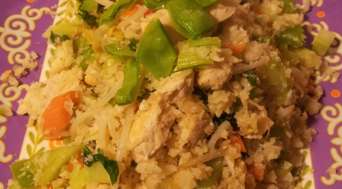 Chicken and vegetable cauliflower rice
