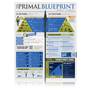 The primal blueprint poster holistic wellness for life diet and lifestyle behaviors primal blueprint malvernweather Images