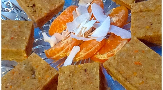 Raw Mandarin and Coconut Slice