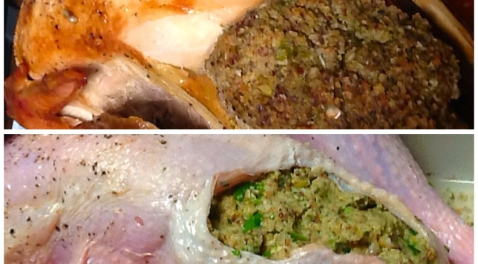 Roast Turkey with herb stuffing